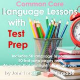 Common Core Language Lessons with Test Prep