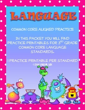 ELA Common Core Language Printables-3rd