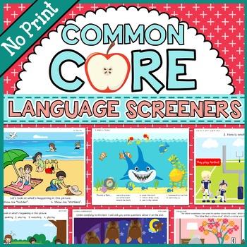 SALE! Common Core Language Screeners, K-3