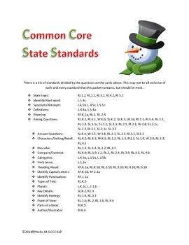 Common Core Language & Speech Polar Express Activity