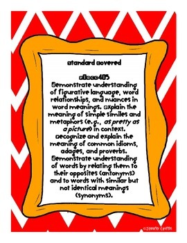 Common Core: Language Standard: Synonyms
