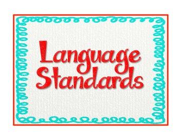 """Common Core Language Standards - 5th Grade Checklist """"Teach & Assess"""" Checklist"""