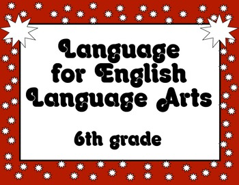 Common Core Language Standards Posters 6th grade RED