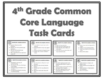 Common Core Language Standards Task Cards