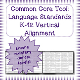 Common Core Language Standards Vertical Alignment