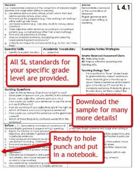 Common Core Language Standards and Guiding Questions Handbook - 8th Grade