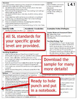 Common Core Language Standards and Guiding Questions Handbook - Kindergarten