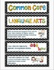 Common Core Lanuage Arts Standards Display Cards, 1st Grade Posters Black Dot