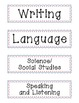 Common Core Learning Objectives Headers/Signs