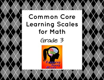 Common Core Learning Scales for Math- Grade 3