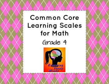 Common Core Learning Scales for Math- Grade 4