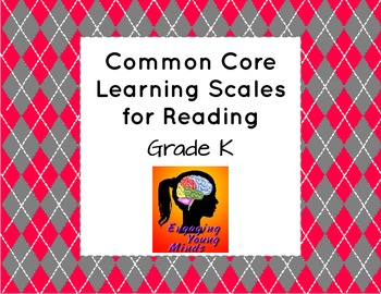 Common Core Learning Scales for Reading- Grade K