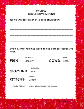 Common Core Learning Standard L.2.1 a Collective Nouns
