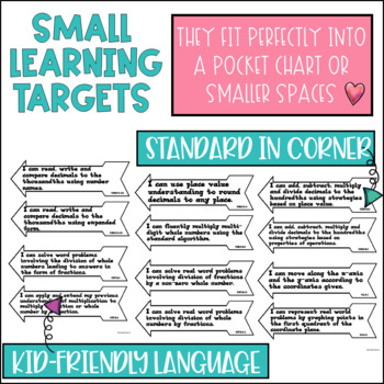 Common Core Learning Target All Subject BUNDLE 5th grade
