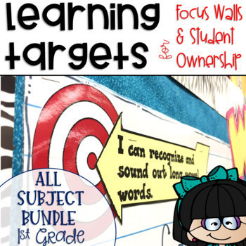 Common Core Learning Target All Subject BUNDLE 1st grade