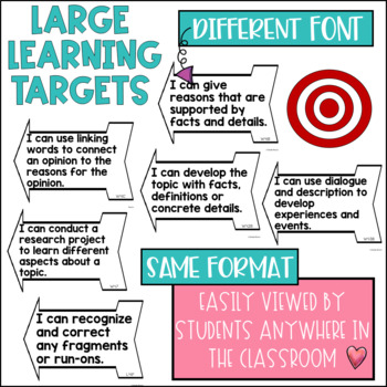 Common Core Learning Target Bundle 4th grade