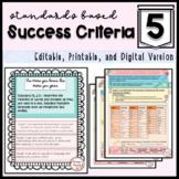 Common Core Learning Target and ELA Success Criteria Bundl