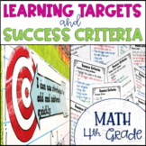 Common Core Learning Target & Success Criteria BUNDLE for Math 4th Grade