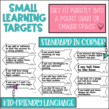 Common Core Learning Target and Success Criteria BUNDLE for Math 1st grade