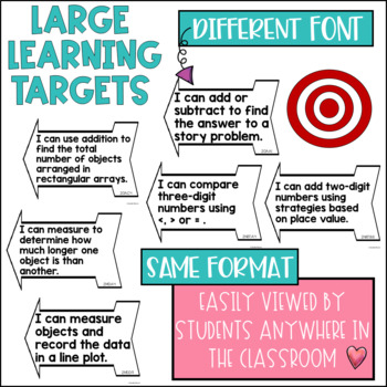 Common Core Learning Target and Success Criteria BUNDLE for Math 2nd grade