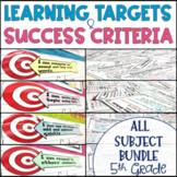 Common Core Learning Target & Success Criteria MEGA BUNDLE 5th {Editable}