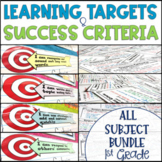 Common Core Learning Target and Success Criteria MEGA Bundle 1st