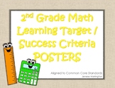 Common Core Learning Target / Success Criteria Poster Pack for 2nd Grade Math