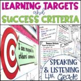 Common Core Learning Target and Success Criteria BUNDLE Speak & Listen 4th grade