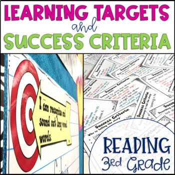 Common Core Learning Target and Success Criteria BUNDLE for Reading 3rd grade