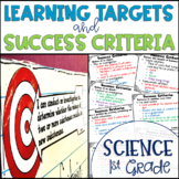 Common Core Learning Target and Success Criteria BUNDLE for Science 1st Grade