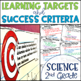 Common Core Learning Target and Success Criteria BUNDLE for Science 2nd Grade