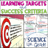 Common Core Learning Target and Success Criteria BUNDLE for Science 4th Grade