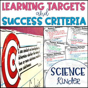 Common Core Learning Target and Success Criteria BUNDLE for Science Kinder