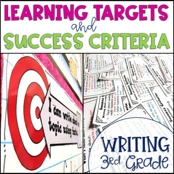 Common Core Learning Target and Success Criteria BUNDLE for Writing 3rd Grade