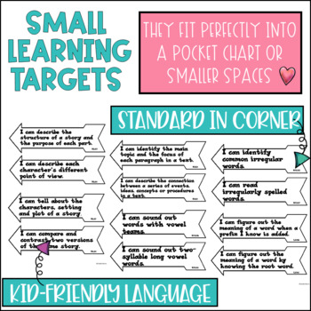 Common Core Learning Target and Success Criteria BUNDLE for Reading 2nd grade