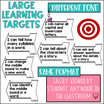 Common Core Learning Target and Success Criteria BUNDLE for Reading Kinder