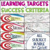 Common Core Learning Target and Success Criteria MEGA BUNDLE 3rd {Editable}
