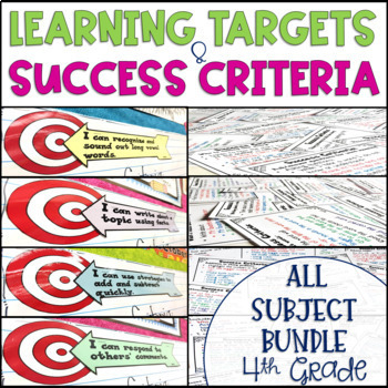 Common Core Learning Target and Success Criteria MEGA BUNDLE 4th {Editable}