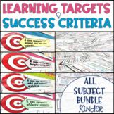 Common Core Learning Target and Success Criteria MEGA BUNDLE Kinder