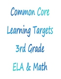 Common Core Learning Targets 3rd grade
