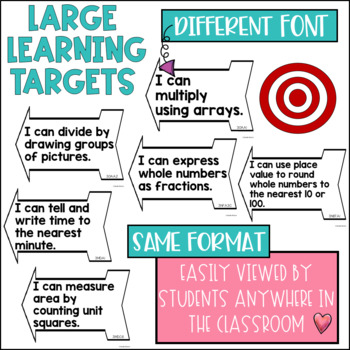 Common Core Math Learning Targets 3rd grade