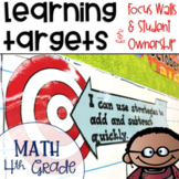 Common Core Learning Targets for Math 4th grade