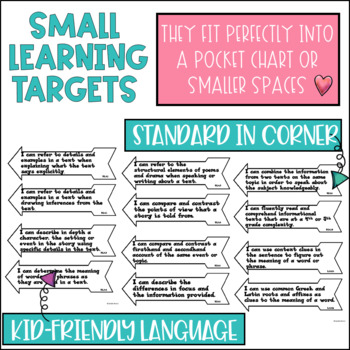 Common Core Learning Targets for Reading 4th grade