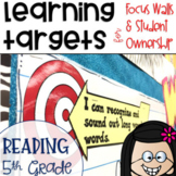 Common Core Learning Targets for Reading 5th grade