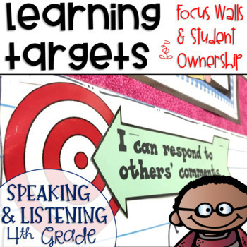 Common Core Learning Targets for Speaking and Listening 4th grade