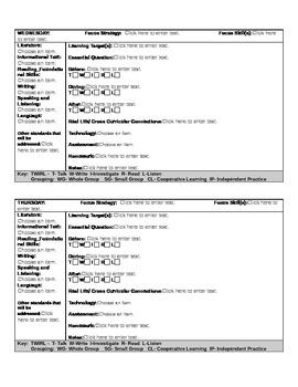 Common Core Lesson Plan 1st Grade ELA