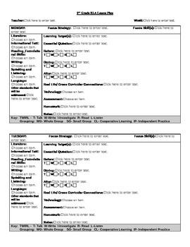 Common Core Lesson Plan 2nd Grade ELA