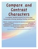 Common Core Lesson Plan - Compare and Contrast Characters