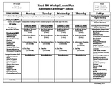 Common Core Lesson Plan Format for Reading