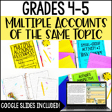 Multiple Accounts of the Same Topic Passages and Activities | RI.4.6 and RI.5.6